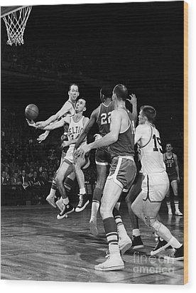 Basketball Game, C1960 Wood Print by Granger