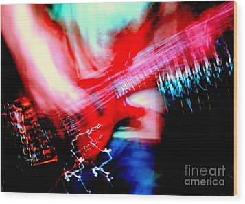 Bass Guitar 1 Wood Print by Jason D Rogers