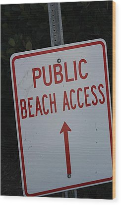 Beach Access Wood Print by Static Studios