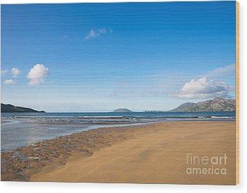 Beach Ireland Wood Print by Andrew  Michael