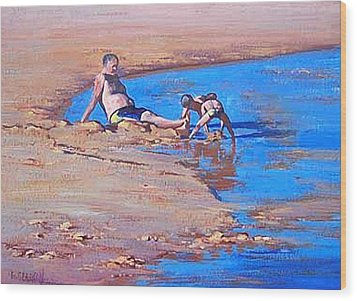 Beach Play Wood Print by Graham Gercken