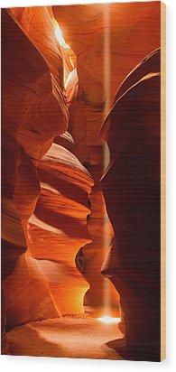 Beam Me Up Wood Print by Adam Pender