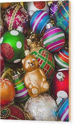 Bear Ornament Wood Print by Garry Gay