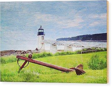 Beautiful Maine Wood Print by Darren Fisher