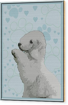 Bedlington Terrier Wood Print by One Rude Dawg Orcutt