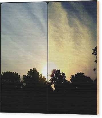 #before & #after #sunrise #sky #clouds Wood Print by Kel Hill