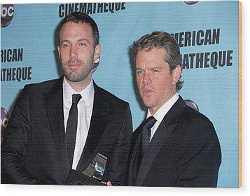 Ben Affleck, Matt Damon In Attendance Wood Print by Everett