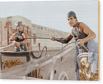 Ben-hur, From Left Francis X. Bushman Wood Print by Everett