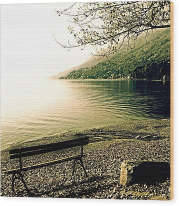 Bench In Autumn Wood Print by Joana Kruse