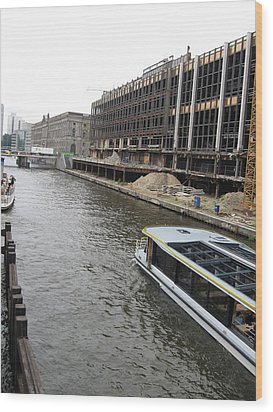 Berlin Canal Wood Print by Yianni Foufas
