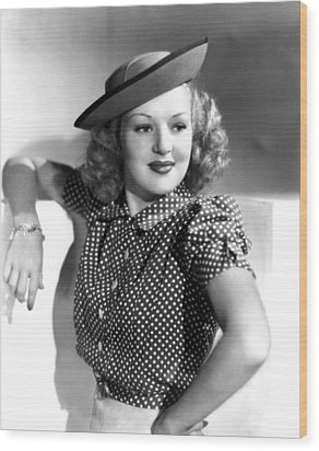 Betty Grable, Paramount Pictures, Late Wood Print by Everett