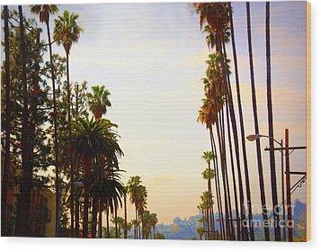 Beverly Hills In La Wood Print by Susanne Van Hulst