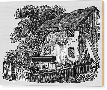 Bewick: Rural House Wood Print by Granger