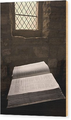 Bible In A Church, Rosedale, North Wood Print by John Short