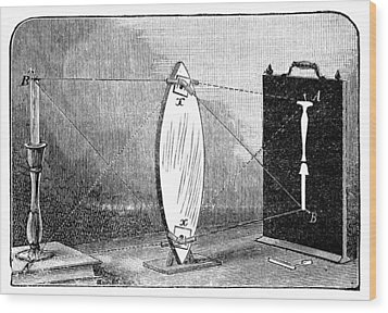 Biconvex Lens Model, 19th Century Wood Print by