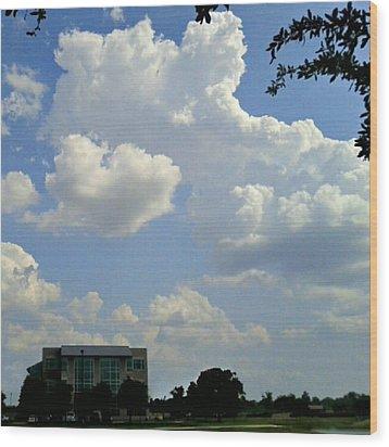 Big Bang What? #creation #clouds #sky Wood Print by Kel Hill