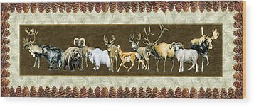 Big Game Lodge Wood Print by JQ Licensing
