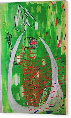 Bikira Maria - Rosa Mystica Wood Print by Gloria Ssali