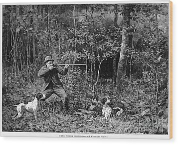 Bird Shooting, 1886 Wood Print by Granger