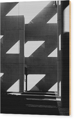 Black And White  Wood Print by Stuart Brown