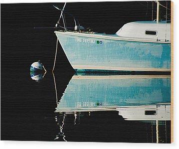 Black Water Wood Print by Sam Smyth