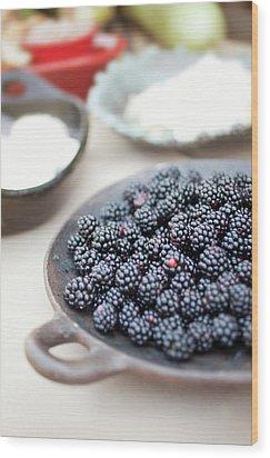 Blackberries Wood Print by AE Pictures Inc.