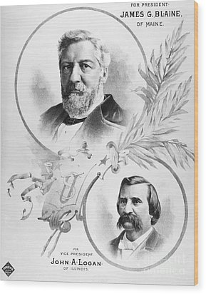 Blaine: Election Of 1884 Wood Print by Granger