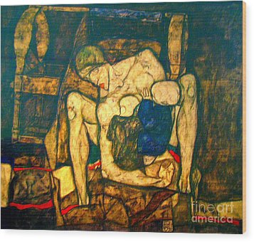 Blind Mother By Egon Schiele Wood Print by Pg Reproductions