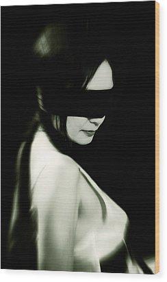 Blindfold Wood Print by Joana Kruse