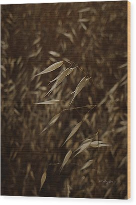 Blowin' In The Wind Wood Print by Xueling Zou