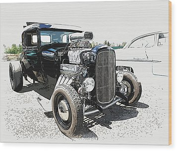 Blown Coupe Wood Print by Steve McKinzie