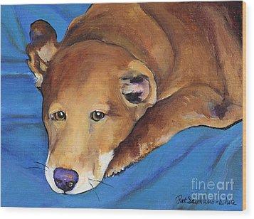 Blue Blanket Wood Print by Pat Saunders-White