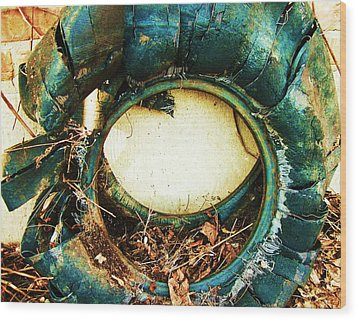Blue Blow Out Wood Print by Todd Sherlock