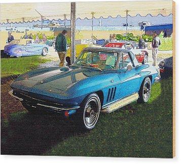 Blue Steel - Chevrolet Corvette Stingray Wood Print by Kenneth Breeze