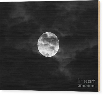 Blustery Blue Moon Wood Print by Al Powell Photography USA