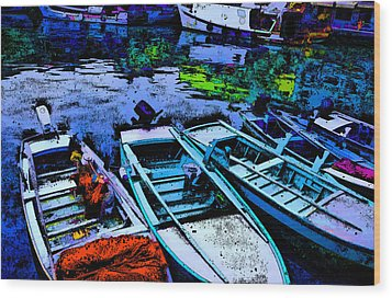 Boats 2 Wood Print by Mauro Celotti