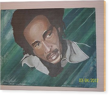 Bob Marley 2011 Wood Print by Elaine Holloway