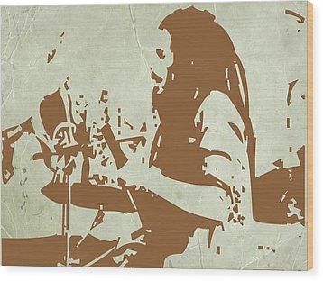 Bob Marley Brown 1 Wood Print by Naxart Studio