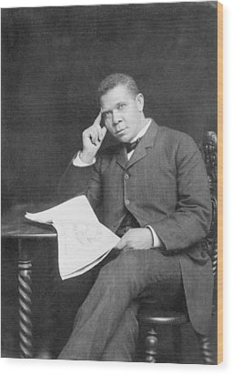 Booker T. Washington 1856-1915, African Wood Print by Everett