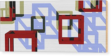 Boxed In Wood Print by Richard Rizzo