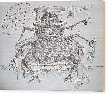 Brazilian Wandering Spider Wood Print by Paul Chestnutt