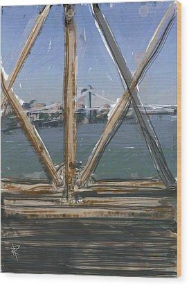 Bridge View Wood Print by Russell Pierce
