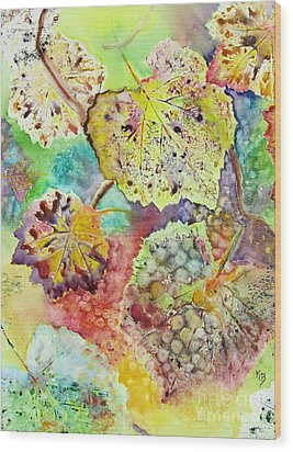 Broken Leaf Wood Print by Karen Fleschler