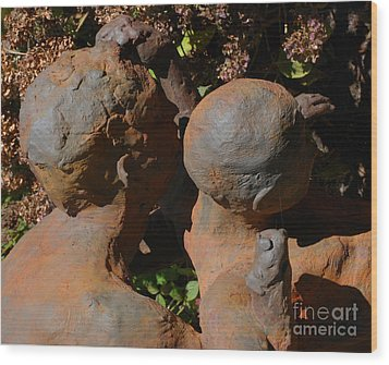 Bronzed Wood Print by Andrea Simon