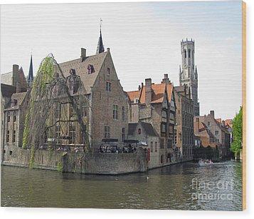 Brugge. Belgium. Spring 2011 Wood Print by Ausra Huntington nee Paulauskaite