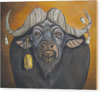 Buffalo Bells Wood Print by Leah Saulnier The Painting Maniac