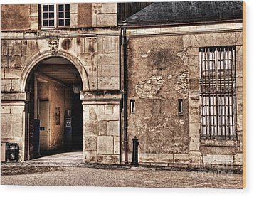 Building In France Wood Print by Charuhas Images