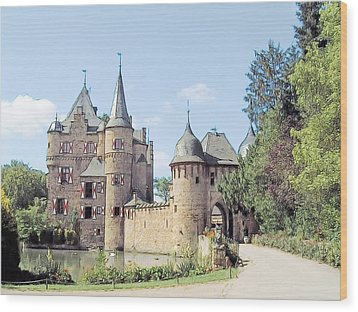 Burg Satzvey Germany Wood Print by Joseph Hendrix