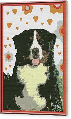 Burmese Mountain Dog Wood Print by One Rude Dawg Orcutt
