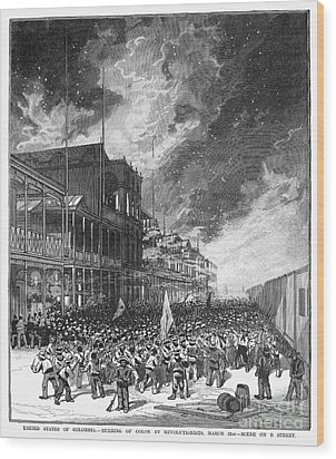 Burning Of Colon, 1885 Wood Print by Granger